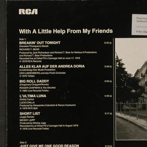 V.A.Onkel Pö: With A Little Help from my Friends, RCA(NL 28531), D, Lim.Ed., 1983 - LP - C9734 - 5,00 Euro