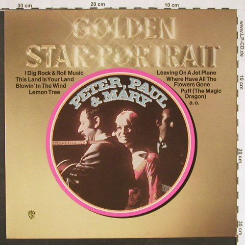 Peter,Paul & Mary: Golden Star-Portrait, Warenprobe, WB(WB 56 101), D, 1975 - LP - C9913 - 7,50 Euro
