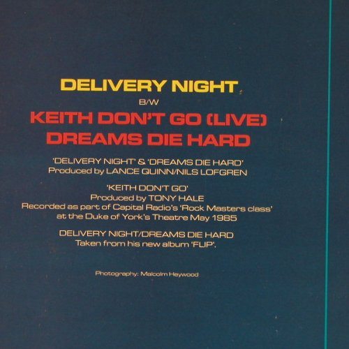 Lofgren,Nils: Delivery Night +2, Towerbell(TOWT 76), UK, 1985 - 12inch - E124 - 4,00 Euro