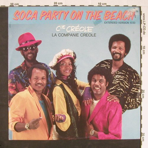 La Company Creole: Soca Party On The Beach, Carrere(CAR 6.20618 AE), D, 1986 - 12inch - E126 - 1,50 Euro