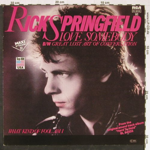 Springfield,Rick: Love Somebody+2, RCA(PC 60158), D, 1982 - 12inch - E1307 - 3,00 Euro