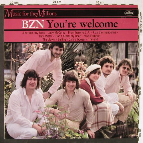 BZN: You're Welcome, Mercury(6375 477), UK, 1978 - LP - E1422 - 6,00 Euro