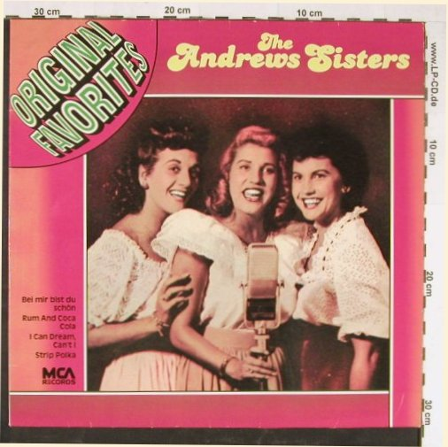 Andrews Sisters: Original Favorites, MCA(202 943-241), D, 1971 - LP - E1631 - 3,00 Euro
