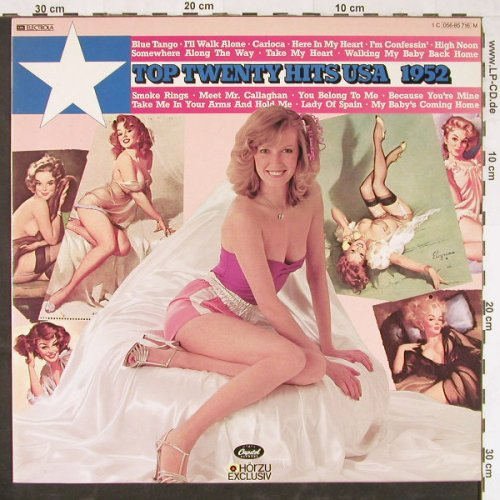 V.A.Top Twenty Hits USA: 1952, 16 Tr., Capitol(056-85 716), D, 1978 - LP - E1994 - 4,00 Euro