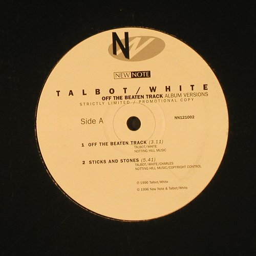 Talbot / White: Off The Beaten Track *2+2,Promo, NewNote(NN121002), UK, 1996 - 12inch - E215 - 2,50 Euro