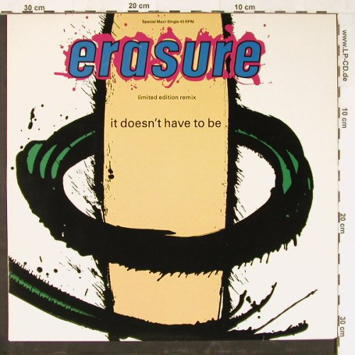 Erasure: It Doesn't Have To Be, Mute(INT 126.859), D, 1987 - 12inch - E2298 - 3,00 Euro