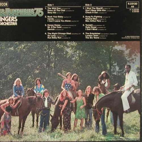 Les Humphries Singers: Les Humphries 75, Warenprobe, Decca(6.22130 AS), D, 1975 - LP - E250 - 9,00 Euro