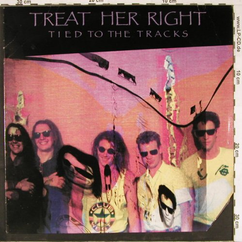 Treat Her Right: Tied To The Tracks,co, RCA(9596-1-R), US M-VG+, 1989 - LP - E2559 - 4,00 Euro