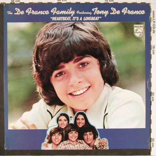De Franco Family f.Tony deFranco: Heartbeat it's a Lovebeat, Philips(6370 203), NL, 1973 - LP - E2670 - 5,00 Euro