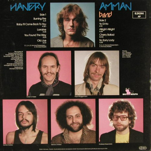 Amman,Hanery: Burning Fire, Big Mouth(6.24244 AP), D, 1980 - LP - E3115 - 5,00 Euro