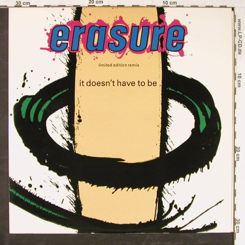 Erasure: It Doesn't Have To Be+2, Mute(L12 mute 56), UK, 1987 - 12inch - E3454 - 3,00 Euro