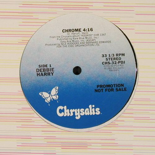 Harry,Debbie(Blondie): Chrome/Under Arrest,sp.dance,Promo, Chrys.(CHS-32-PD), US, 1981 - 12inch - E3525 - 5,00 Euro