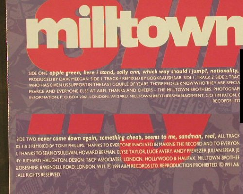 Milltown Brothers: Slinky, AM(395 346 1), D, 1991 - LP - E3534 - 5,00 Euro