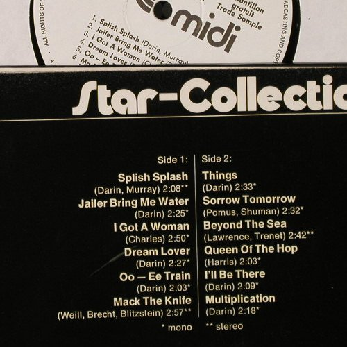 Darin,Bobby: Star-Collection, Warenprobe, Midi(MID 20 031), D, 1972 - LP - E3575 - 9,00 Euro