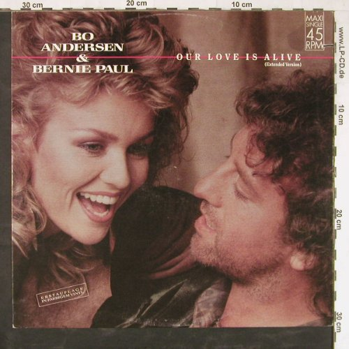 Andersen,Bo & B.Paul: Our Love Is Alive+1,co, Blow Up(INT 125.594), D, 1987 - 12inch - E3650 - 1,00 Euro