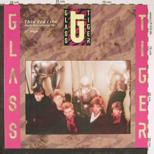 Glass Tiger: Thin Red Line*3, Manhattan(20 1648 6), NL, 1986 - 12inch - E3796 - 2,50 Euro