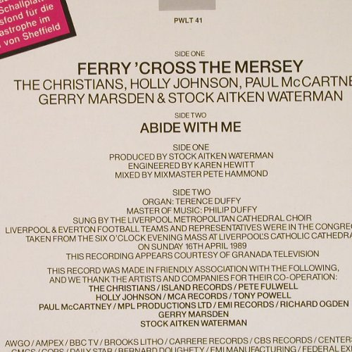 V.A.Ferry'Cross The Mersey: Christians,Holly Johnson,P. McCartn, PWL(246 855-0), D, 1989 - 12inch - E3855 - 2,50 Euro