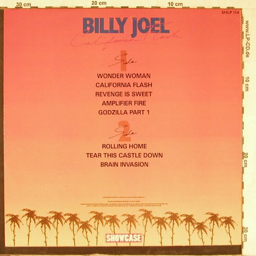 Joel,Billy: California Flash, Showcase(SHLP 114), UK, 1985 - LP - E3939 - 6,00 Euro