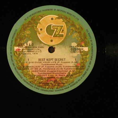 Stylus: Best Kept Secret, OZ Rec.(OZS.1008), AUS, 1978 - LP - E4182 - 5,00 Euro