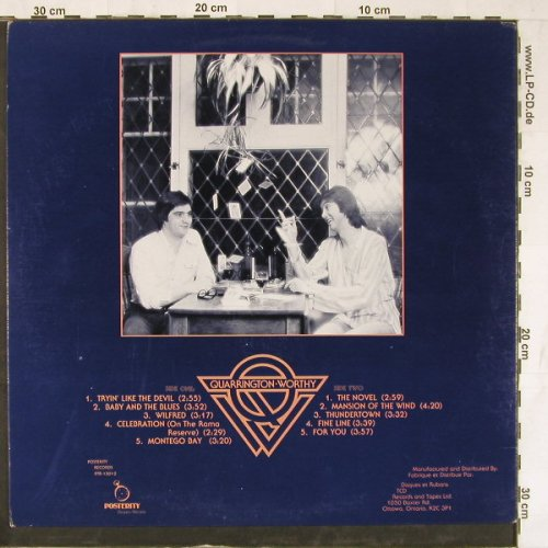 Quarrington & Worthy: Same, Posterity(PTR-13012), CDN, 1979 - LP - E4189 - 5,00 Euro