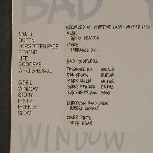 Bad Yodelers: Window, Semaphore(SR 330591), D, 1991 - LP - E418 - 6,00 Euro