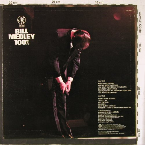 Medley,Bill: 100%, MGM(SE-4583), US,  - LP - E4413 - 12,50 Euro