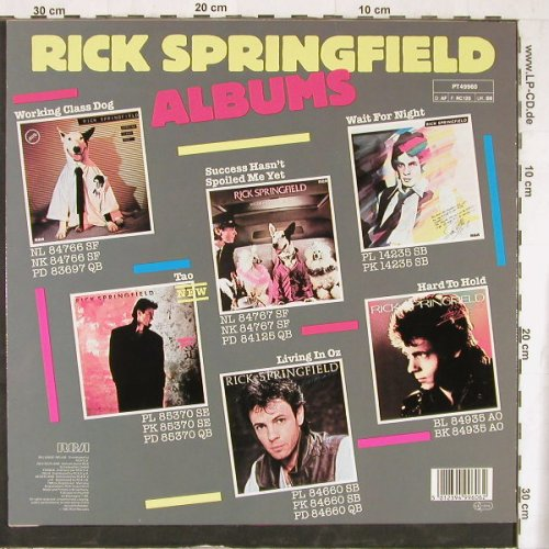 Springfield,Rick: State Of The Heart+1, RCA(PT 49960), D, 1985 - 12inch - E4514 - 2,50 Euro