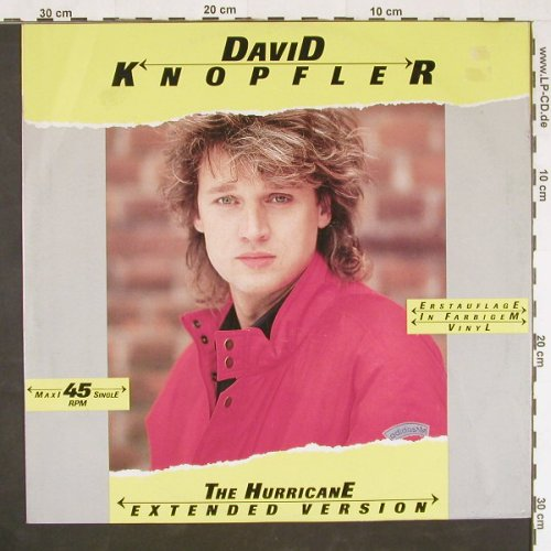 Knopfler,David: The Hurricane+3,Yellow Vinyl, Intercord(INT 125.250), D, 1987 - 12inch - E453 - 3,00 Euro