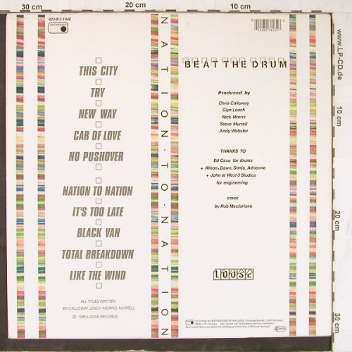 Beat The Drum: Nation To Nation, Metronome(823 813-1 ME), D, 1985 - LP - E4649 - 5,00 Euro