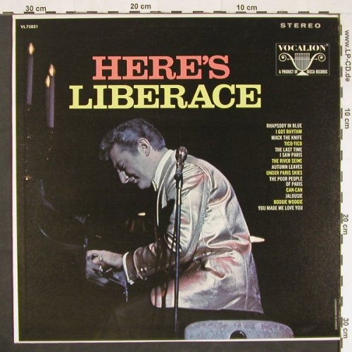 Liberace: Here Is Liberace, Vocalion(VL 73821), CDN,  - LP - E473 - 5,00 Euro