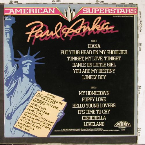 Anka,Paul: American Superstars, Memory(296 973-245), D, 1982 - LP - E4961 - 4,00 Euro