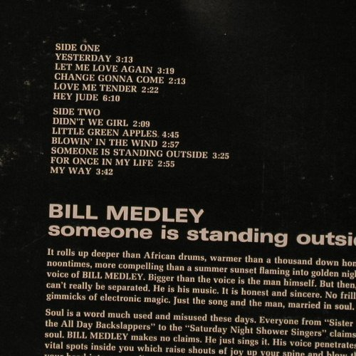 Medley,Bill: Someone Is Standing Outside, MGM(SE-4640), US,  - LP - E5116 - 12,50 Euro