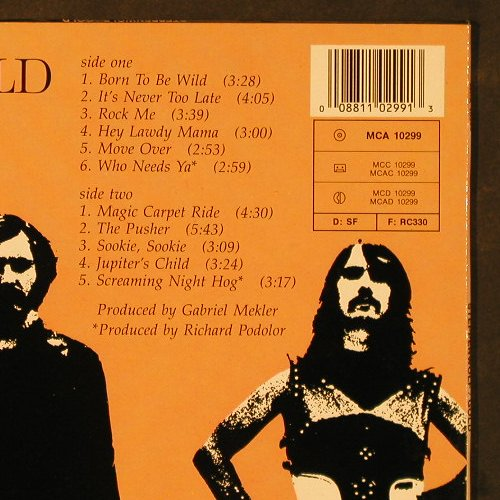 Steppenwolf: Gold-Their Greatest Hits,Ri, MCA(10299), D,  - LP - E5338 - 5,00 Euro