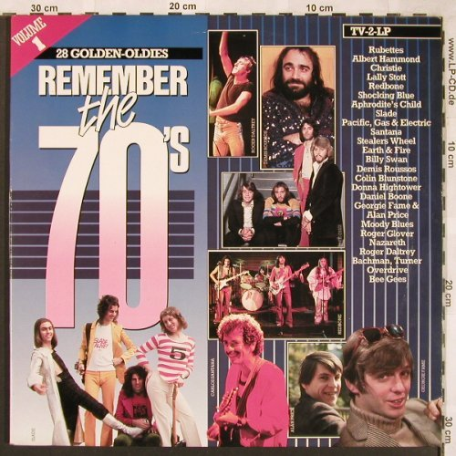 V.A.Remember The 70's: Vol.1, Rubettes...Sandy Coast, Arcade(ADEH 155), NL, Foc, 1984 - 2LP - E5690 - 5,00 Euro