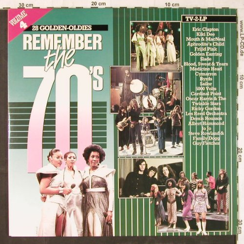 V.A.Remember The 70's: Vol.4,Eric Clapton...Les Humphries, Arcade(ADEH 158), NL, Foc, 1984 - 2LP - E5693 - 5,00 Euro
