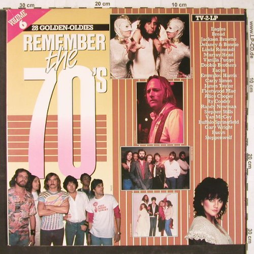 V.A.Remember The 70's: Vol.6,Eagles...Don Fardon, Arcade(ADEH 160), NL, Foc, 1984 - 2LP - E5695 - 5,00 Euro