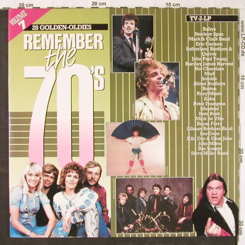 V.A.Remember The 70's: Vol.7,Abba...Bee Gees, Arcade(ADEH 161), NL, Foc, 1984 - 2LP - E5696 - 5,00 Euro