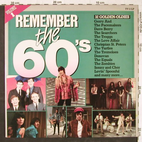 V.A.Remember The 60's: Vol.1,Dave Berry...Lovin'Spoonful, Arcade(ADEH  89), NL, Foc, 1982 - 2LP - E5697 - 5,00 Euro
