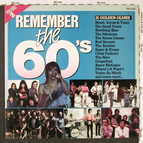V.A.Remember The 60's: Vol.2,Small Faces...Donovan, Arcade(ADEH 104), NL, Foc, 1982 - 2LP - E5698 - 5,00 Euro