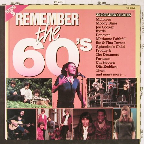 V.A.Remember The 60's: Vol.5,Monkees...Procol Harum, Arcade(ADEH 136), NL, Foc, 1984 - 2LP - E5701 - 5,00 Euro