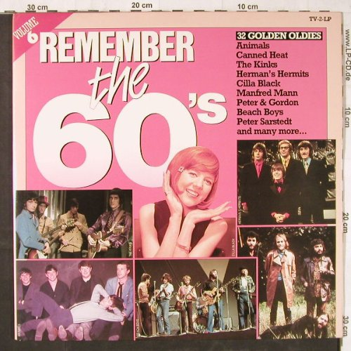 V.A.Remember The 60's: Vol.6,Animals...Scaffold, Arcade(ADEH/C 153), NL, Foc, 1984 - 2LP - E5702 - 5,00 Euro