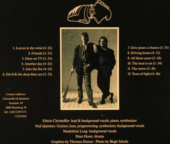 Christoffer & Quinton: Tears Of Light, Da Music(RT 1-1040), D, 1991 - LP - E5829 - 6,00 Euro