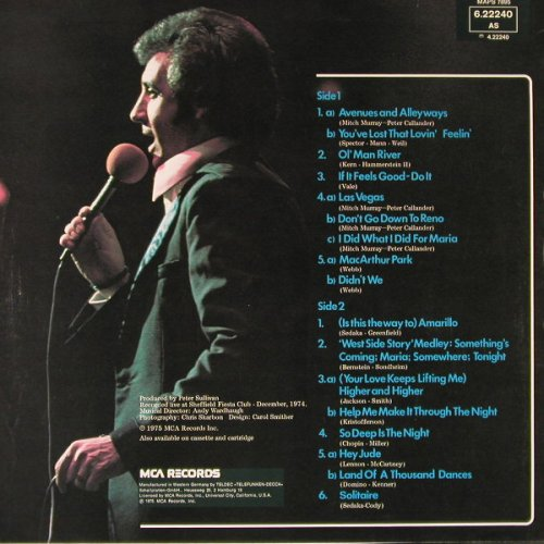 Christie,Tony: Live, Ri, MCA(6.22240 AS), D, 1975 - LP - E6101 - 5,00 Euro