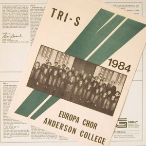 Anderson College Tri-S Choir: On Tour in Europe, Garant(PF 114), D, 1978 - LP - E6171 - 5,00 Euro