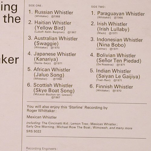Whittaker,Roger: Whistling'Round The World, Starline/EMI(SRS 5076), UK,  - LP - E6291 - 5,00 Euro