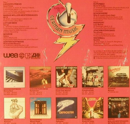 V.A.Turn On To German Music: Lucifer's Friend...Snowball, FS-New, WEA/Joker Serie(), D, 1978 - LP - E7402 - 9,00 Euro