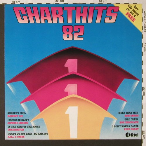 V.A.Charthits 82: Vol.1-Hot Chocolate...Capt.Sensible, K-tel(NE 1195A), , 1982 - LP - E7687 - 4,00 Euro