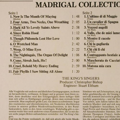 King's Singers: Madrigal Collection, DSC, Aves(26 815-1), D,  - LP - E9078 - 5,00 Euro