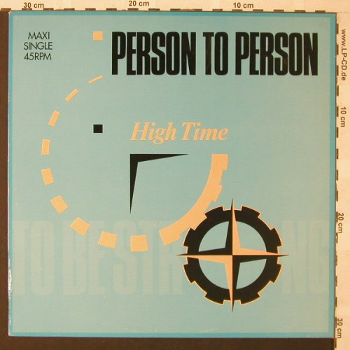 Person To Person: High Time*2, Epic(A 12.4630), NL, 1984 - 12inch - E9760 - 2,50 Euro