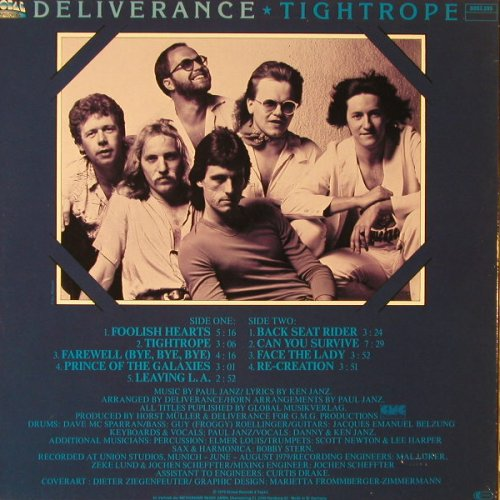 Deliverance: Tightrope, Global(0063.205), D, 1979 - LP - E9804 - 7,50 Euro